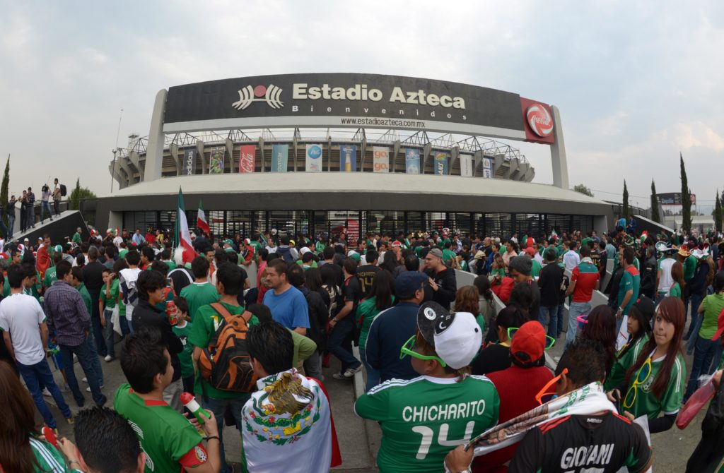 World Cup qualifying between United States and Mexico at Estadio Azteca.