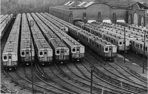 Philly's collection of trolleys back in 1981