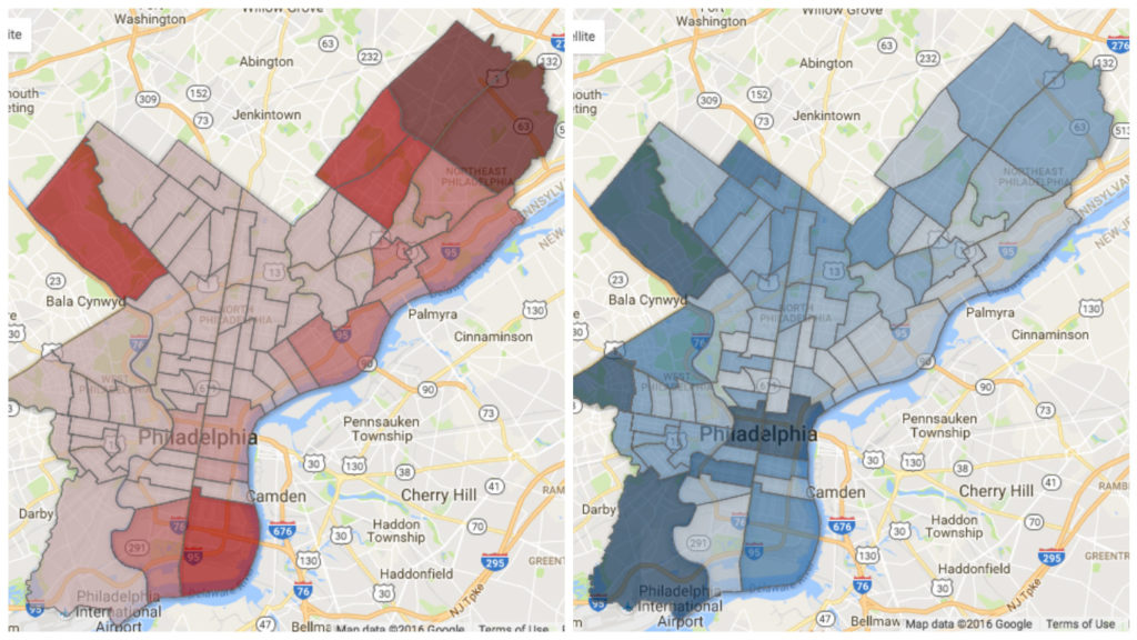 Play with the maps to see how many votes your candidate got in your neighborhood.