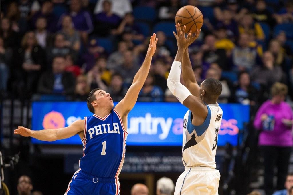 NBA: Philadelphia 76ers at Minnesota Timberwolves