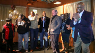 Mayor Jim Kenney and Rep. Dwight Evans spent their Super Bowl at Relish this year