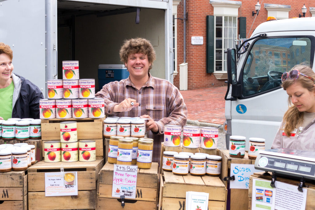 Ben Wenk at his Headhouse Market stand in April 2014
