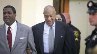 Comedian and actor Bill Cosby arrives at the Montgomery County courthouse this morning. Judge Steven T. O'Neill  will begin hearing arguments from lawyers for Bill Cosby and Montgomery County prosecutors today in a key pretrial hearing involving Cosby's criminal sexual assault case.