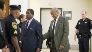 Comedian and actor Bill Cosby arrives at the Montgomery County courthouse this morning. Judge Steven T. O'Neill  will resume hearing arguments from lawyers for Bill Cosby and Montgomery County, Pennsylvania, prosecutors today in a key pretrial hearing involving Cosby's criminal sexual assault case.