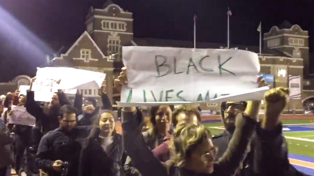 Penn students protested the racists GroupMe group on Friday evening