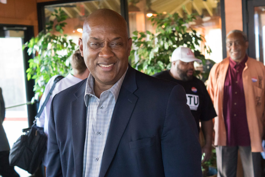 State Rep. (and likely Congressman) Dwight Evans, host of the party