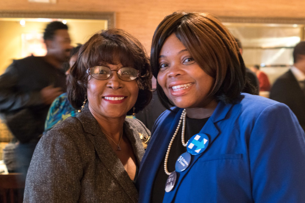 Councilwoman Blondell Reynolds Brown and chief of staff Katherine Gilmore Richardson