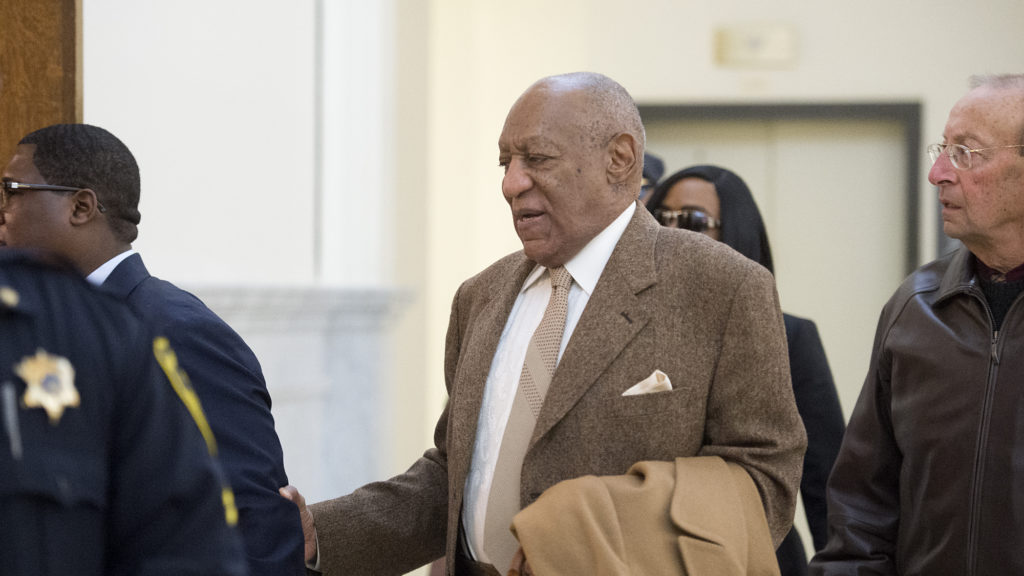 Bill Cosby walks into the Montgomery County Courthouse in Norristown, Pennsylvania for day two of the pretrial hearing in his sexual assault case on Wednesday, December 14, 2016.