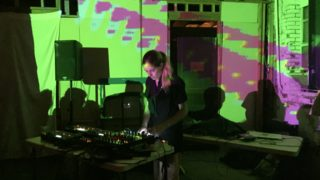 Berlin-based electronic music artist Laurel Halo performing in a Philly DIY music venue in October.