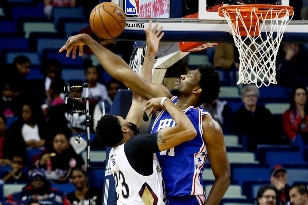 NBA: Philadelphia 76ers at New Orleans Pelicans