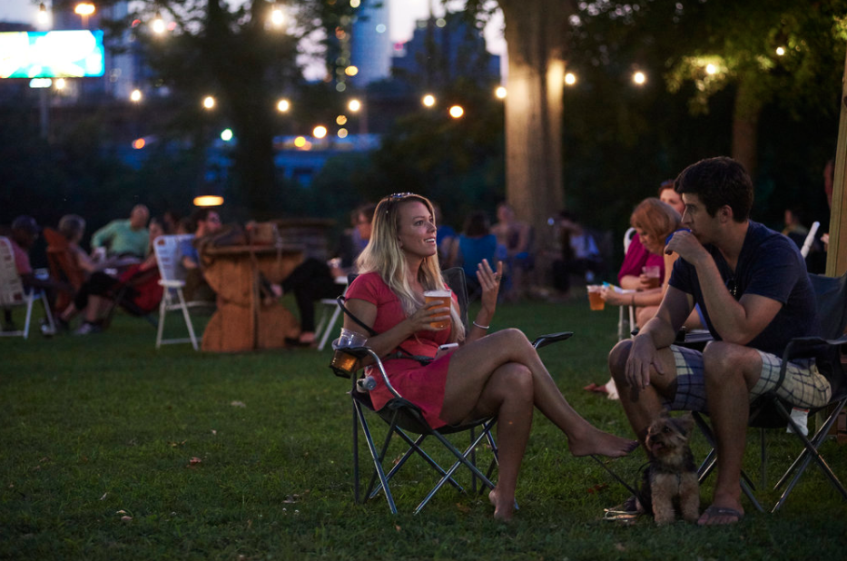 People enjoy Parks on Tap at Fairmount Water Works