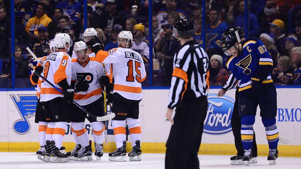 NHL: Philadelphia Flyers at St. Louis Blues