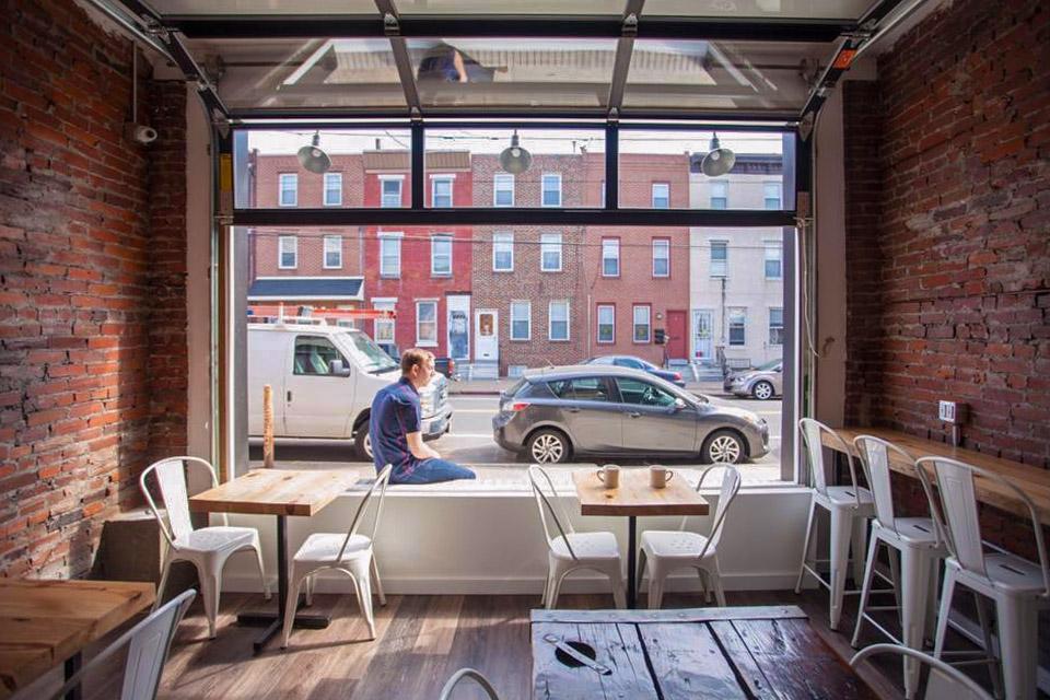 Joe Livewell at his Richmond Street cafe