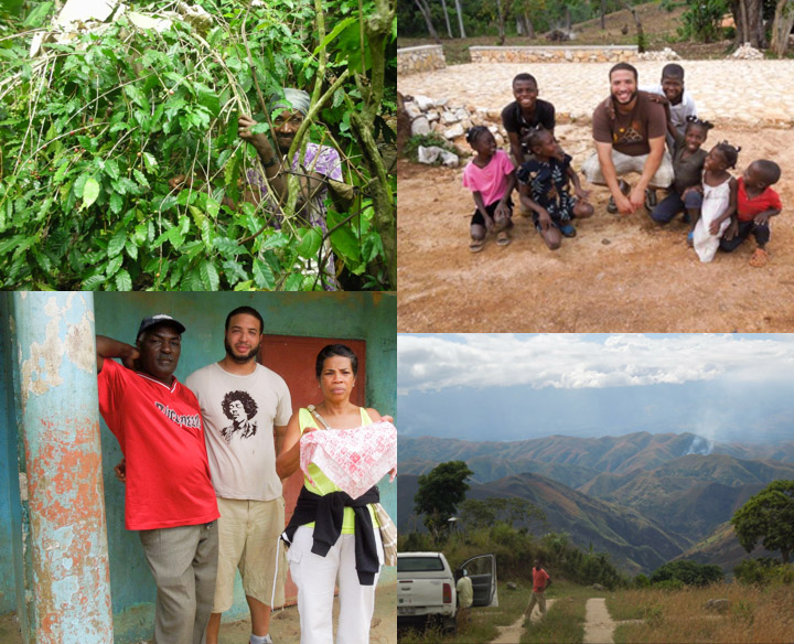 Scenes from Viera's coffee trips to Haiti