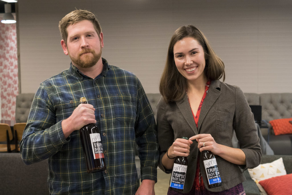 Triple Bottom brewer Kyle Carney and co-founder Tess Hart