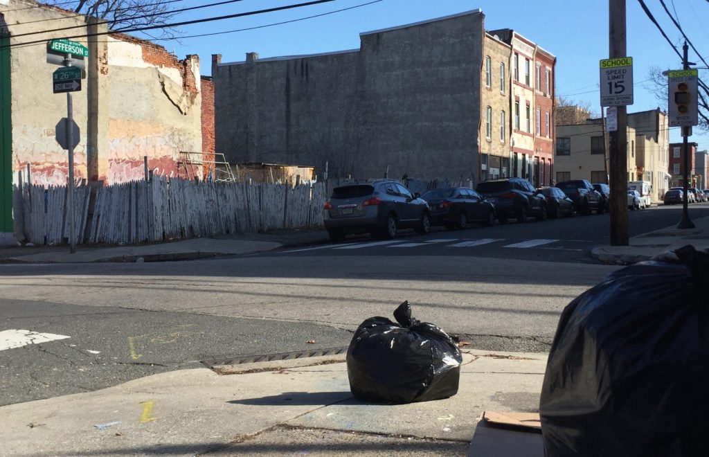 """On 26th and Jefferson, regardless of our constant efforts to keep it clean, it's there,"" Talmadge Belo said of the bags of trash in his neighborhood."