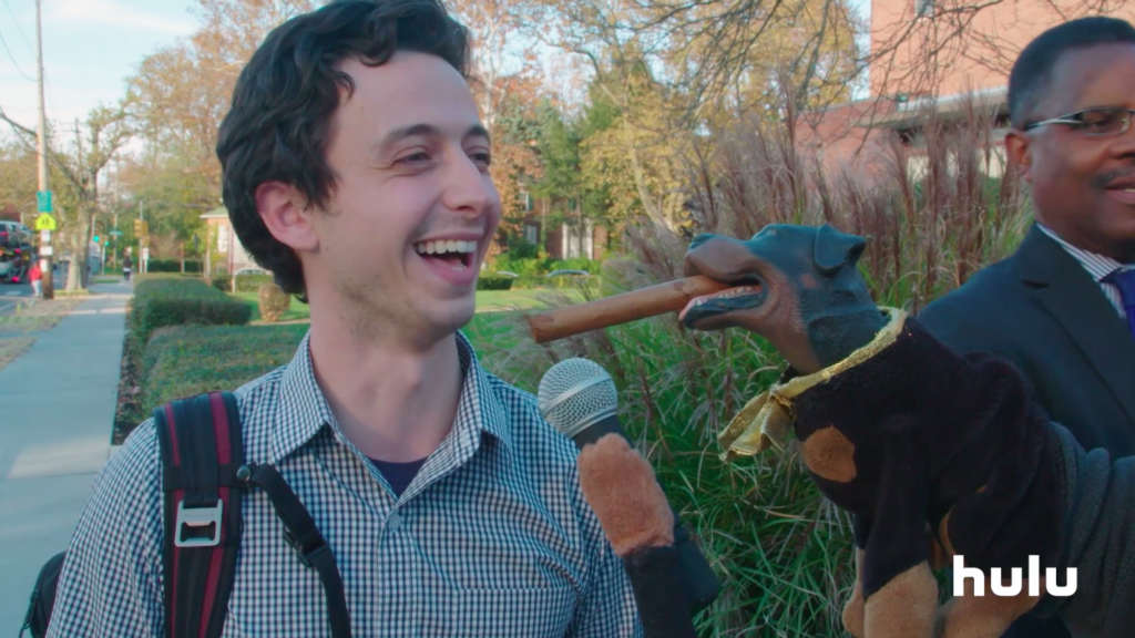 Albert Eisenberg is interview by Triumph the Insult Comedy Dog.