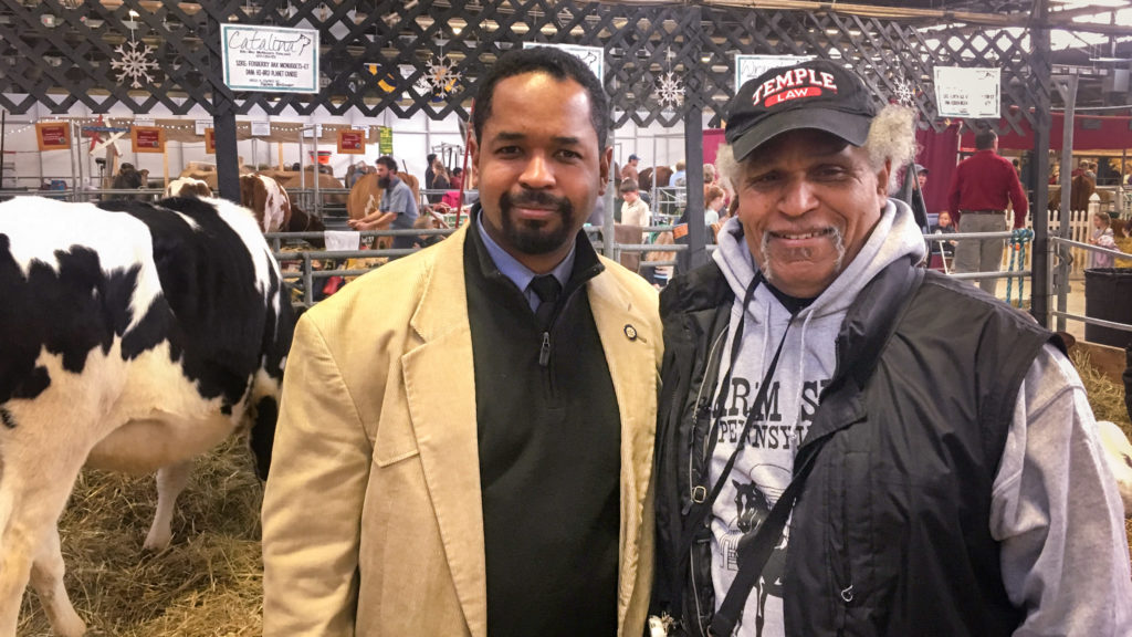 PA Senator Sharif Street and his father, former Philly Mayor John Street, at the Pennsylvania Farm Show