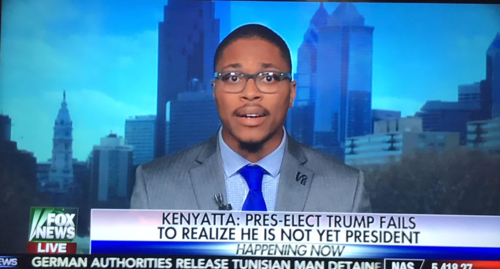 Malcolm Kenyatta appears on Fox News to discuss a Trump presidency.