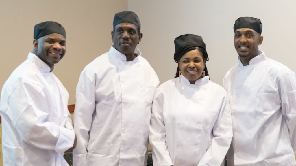 Part of the Philabundance Community Kitchen winter 2016 graduating class