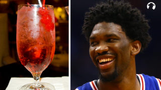 Joel Embiid eyes a Shirley Temple