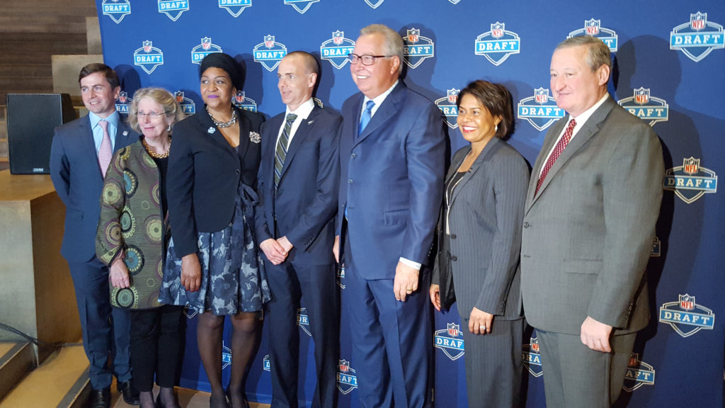 The braintrust of the NFL Draft organizing committee in Philly.