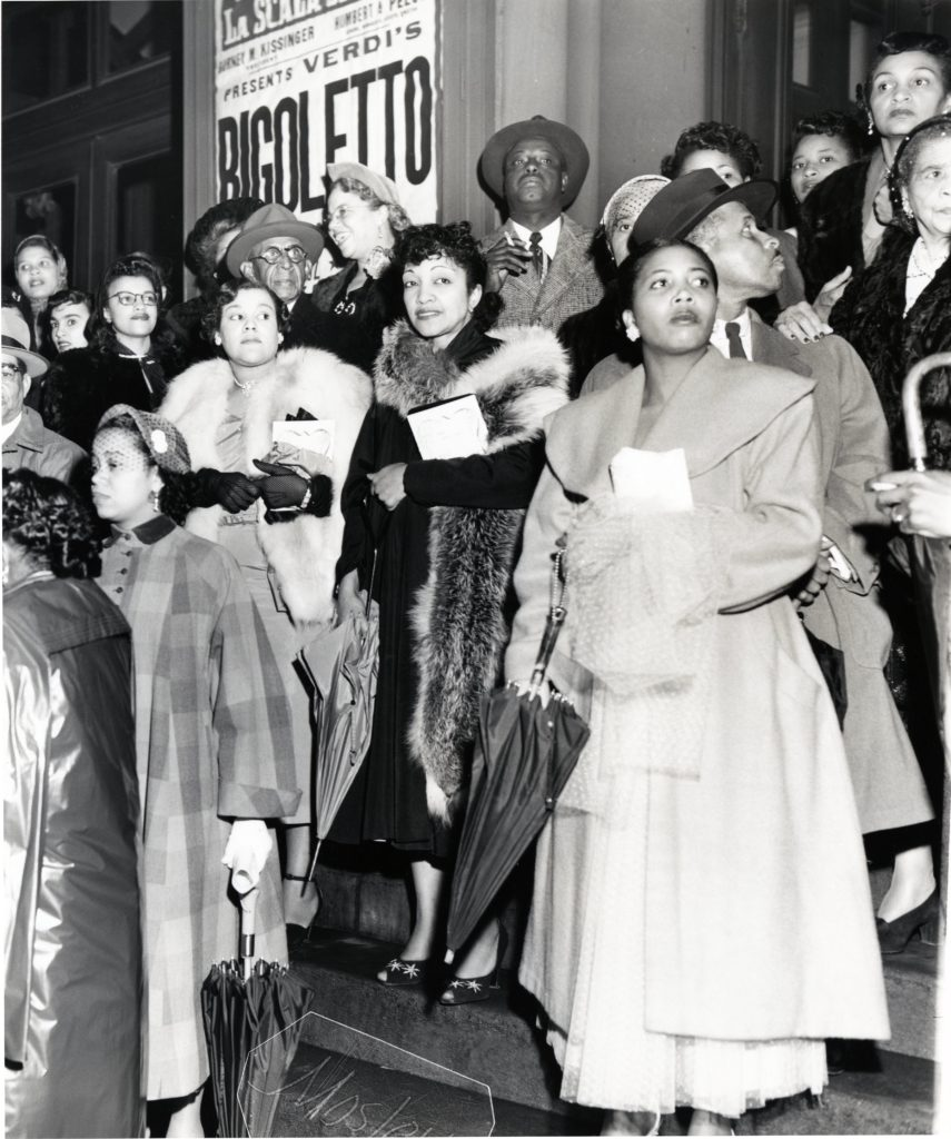 At the Academy of Music in 1949.