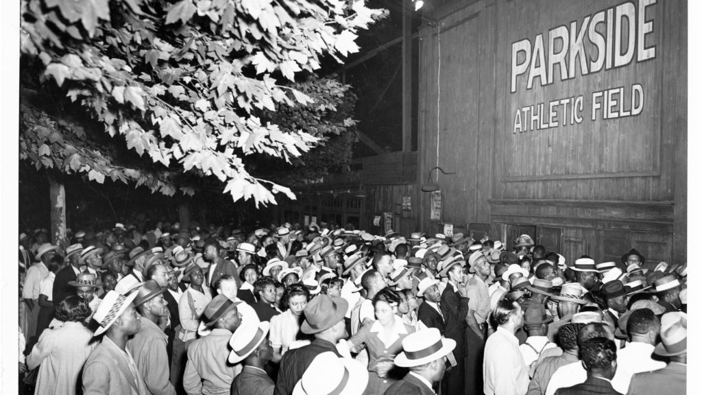 Parkside Athletic Field, when Satchel Page came to town, in 1942.