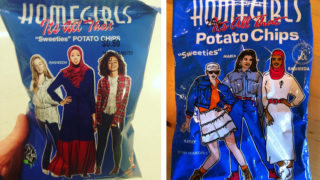 Left: Homegirls chips today; Right: Homegirls chips of old