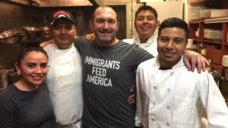 Le Virtu chef Joe Cicala and his kitchen staff
