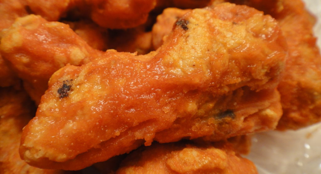 This is a chicken wing. Many hundred of them will be eaten on Friday.