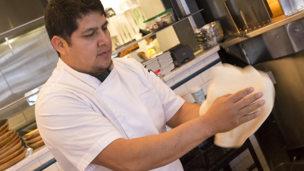 Carlos Aparicio, corporate chef at Zavino Restaurant Group, is supportive of the action