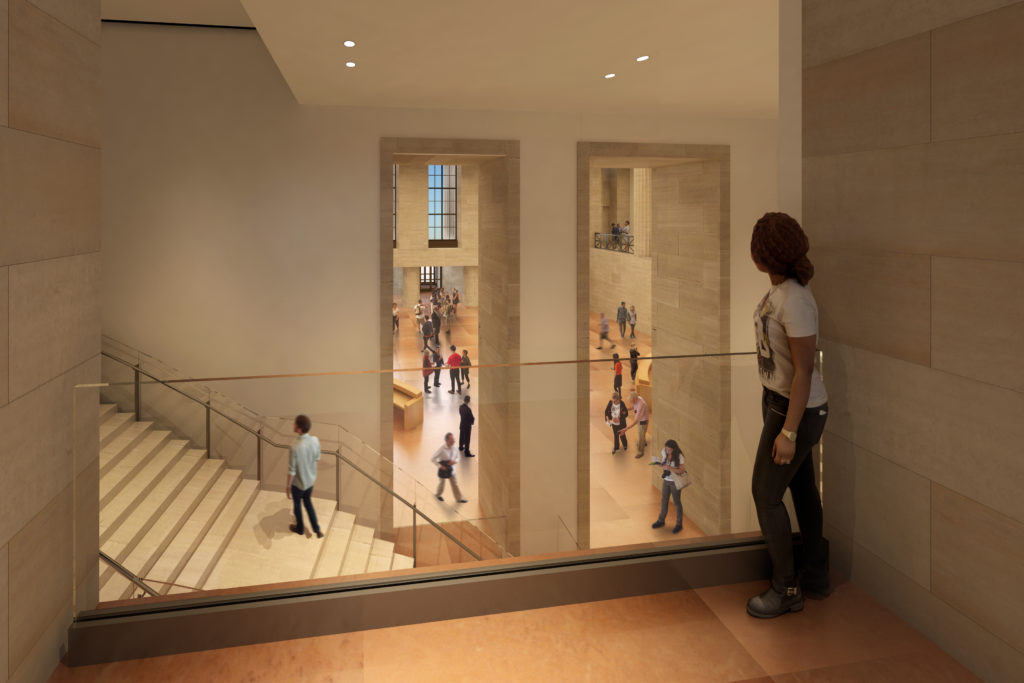 If you're standing in the Great Stair Hall, where Diana Lives, this will be your new view to the main entrance.