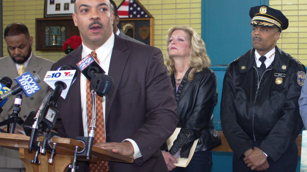 District Attorney Seth Williams speaks at a press conference in 2016.