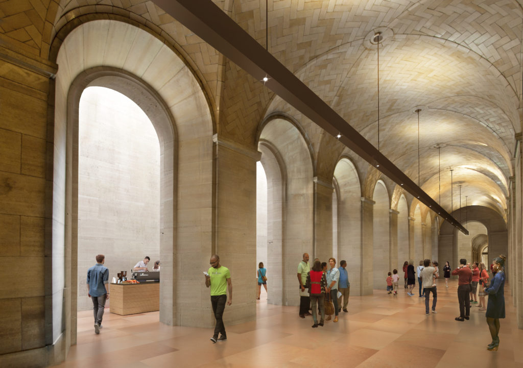 """What the """"Vaulted Walkway"""" will look like when it's complete."""