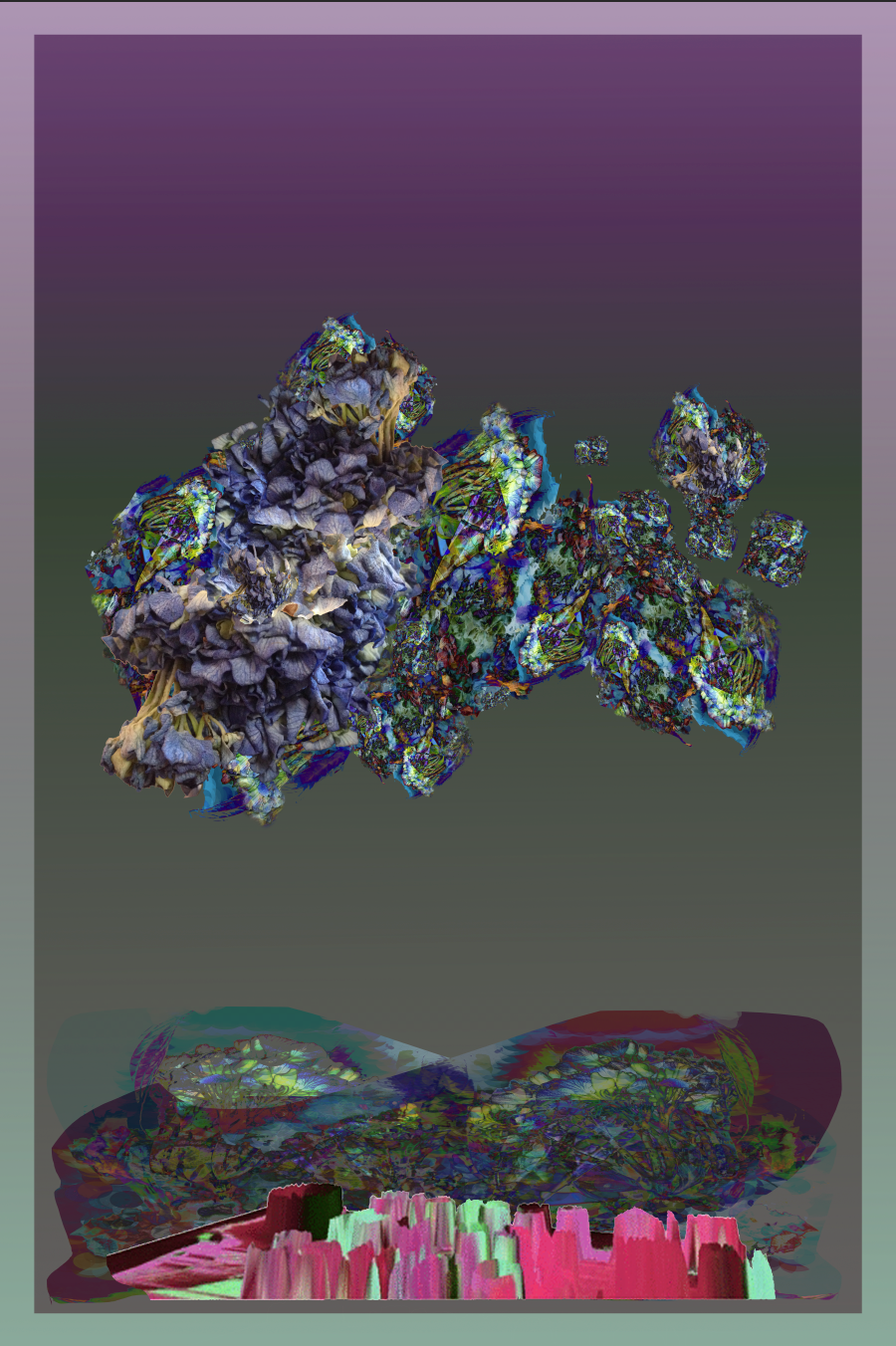 """My Hydrangeas Wilt II,"" 2016, Digital Print"