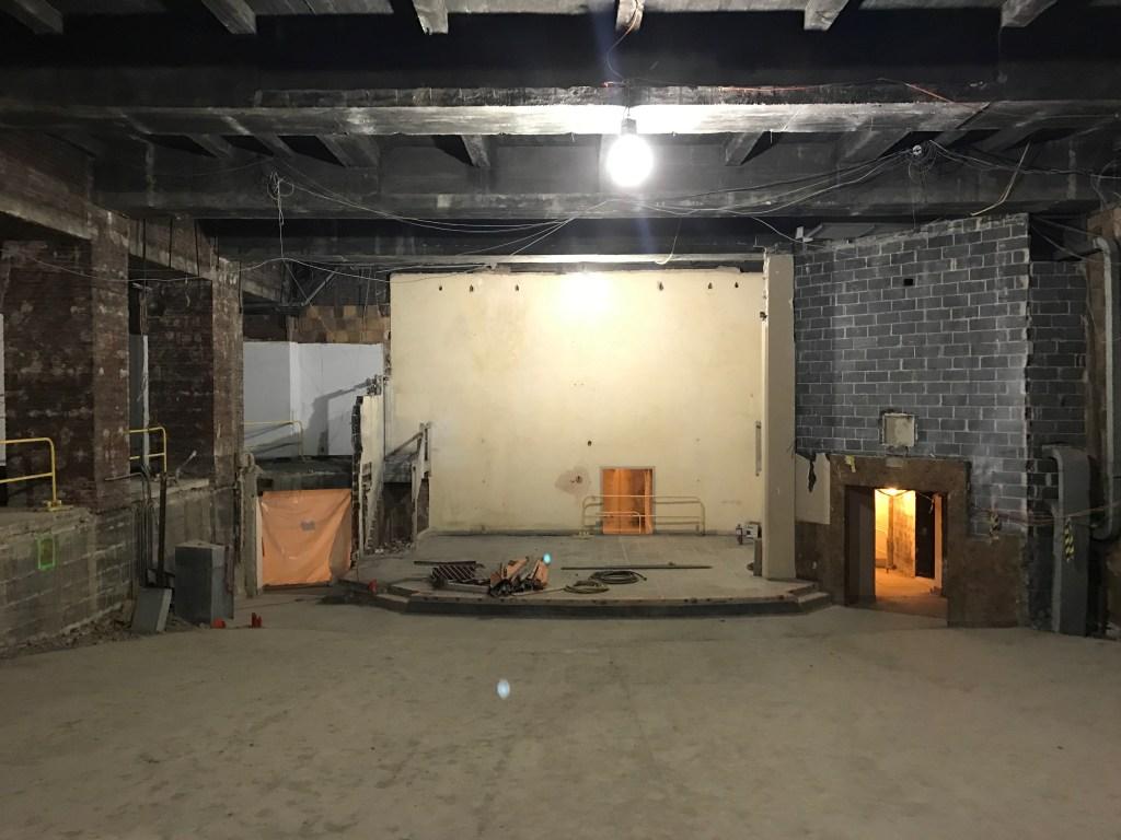 The demolished auditorium.