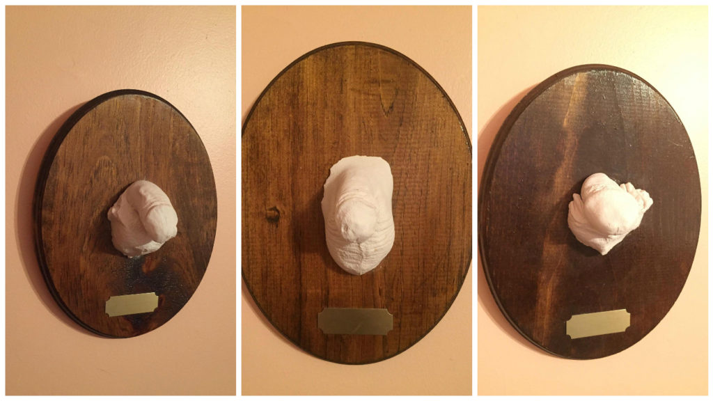 "Artist Katie Rauth is selling ""small dicks on plaques."""