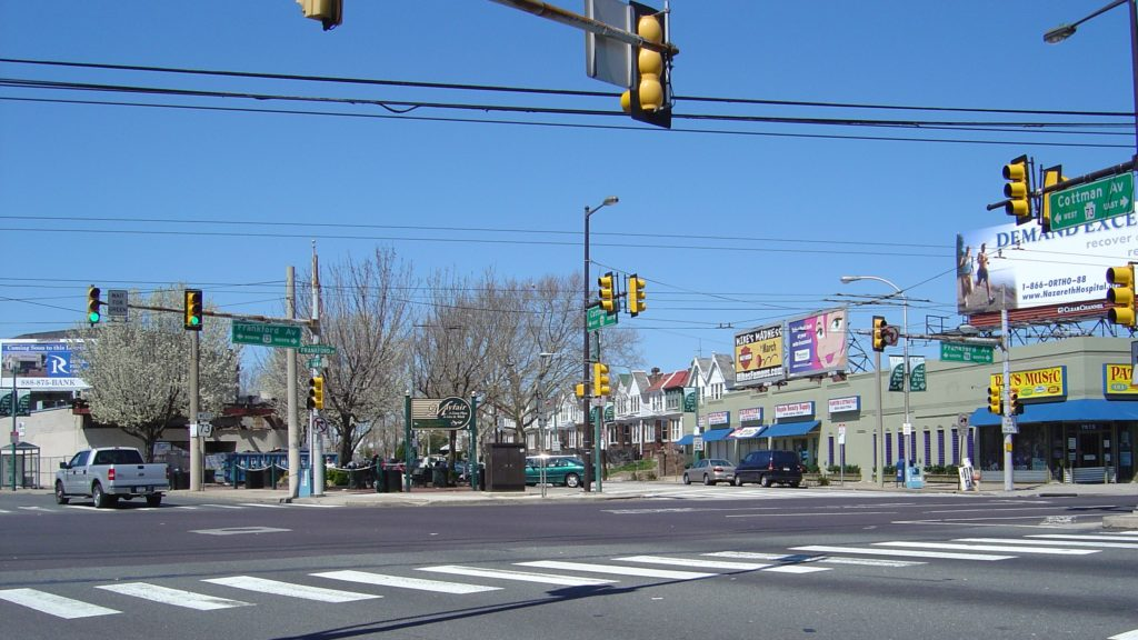 Cottman Avenue in Mayfair, which is considered one of Philly's middle neighborhoods.