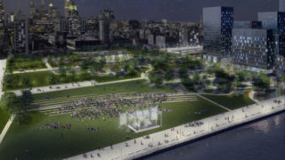 PL Rendering Final_Park Looking West Night