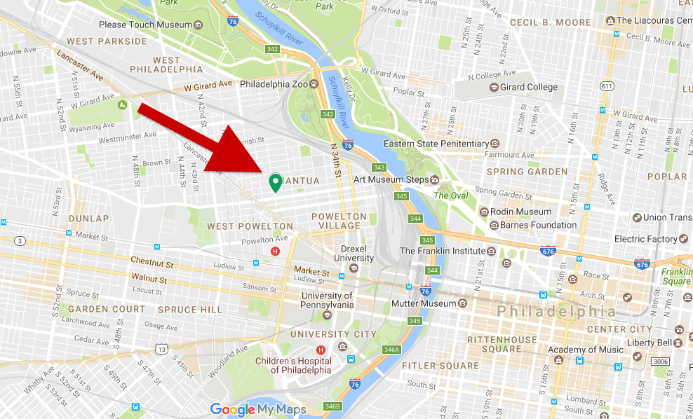 """The area in West Philly where """"Corktown"""" once was."""