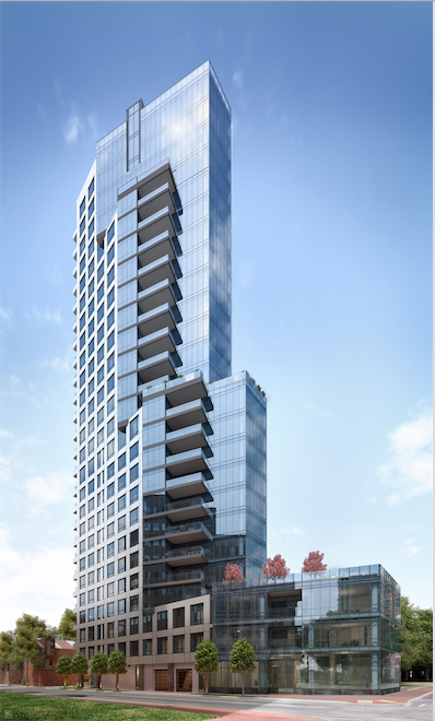 What 500 Walnut will look like when completed later this year.
