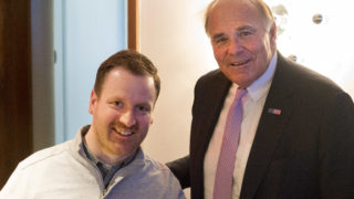 Eli Kulp and former Pa. Governor Ed Rendell at a.kitchen on Thursday