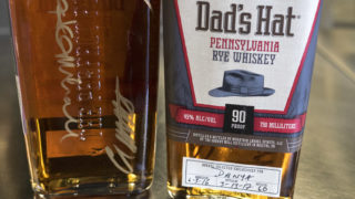 No. 1 and No. 60 bottles of Danya Blend Dad's Hat Rye