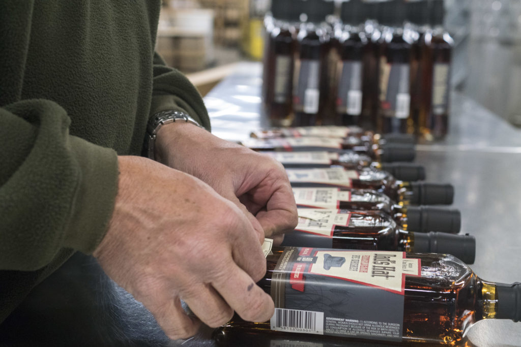 Each limited edition bottle gets a hand-written numbered label