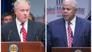 Left: Sen. Scott Wagner, R-York. Right: Sen. Anthony Williams, D-Phila.