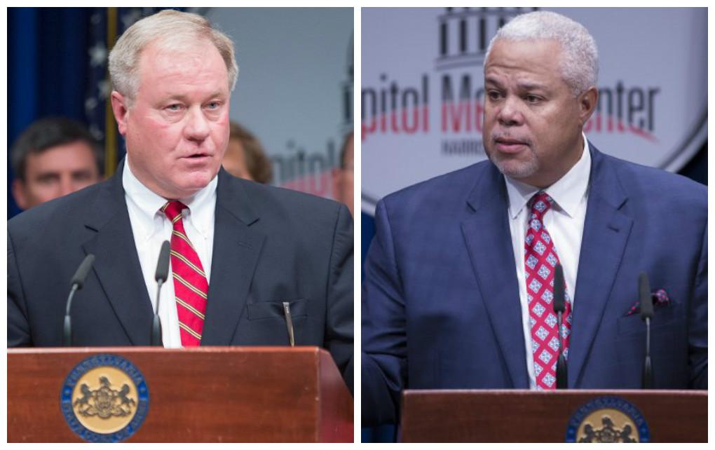 Left: Sen. Scott Wagner, R-York. Right: Sen. Anthony Williams, D-Phila.