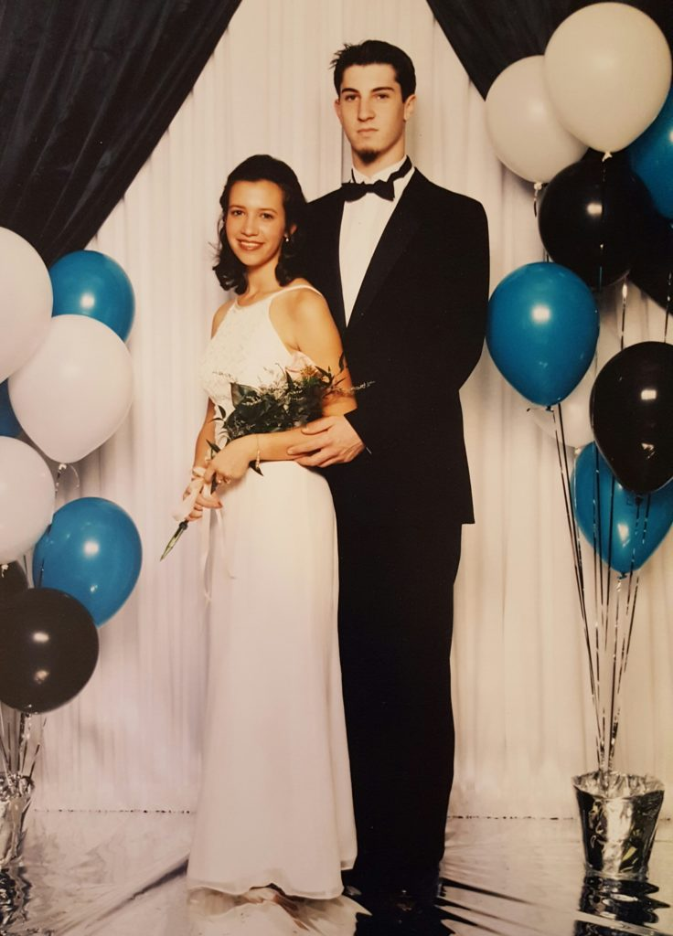 Sports Editor Dan Levy at prom in 1996, with his date Marissa, who he later married.
