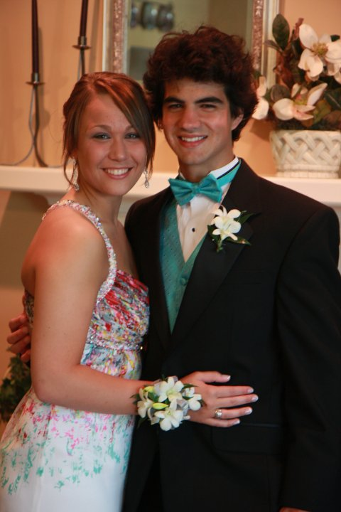 Reporter/Curator Anna Orso and her date in 2010.
