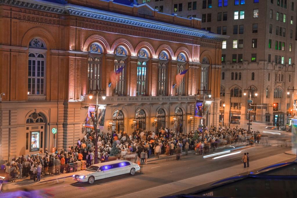 Philadelphia's 1865 Academy of Music is home to the Opera Company of Philadelphia and Pennsylvania Ballet.